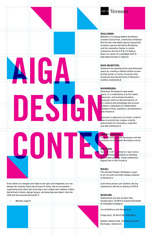 Poster design challenge - Aiga Student Design Challenge