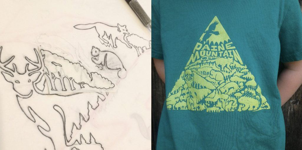 t-shirt sketch
